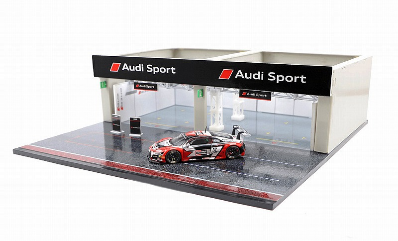 T64D-001-AS 1/64 Diorama - Racing Pit Garage Audi Sport