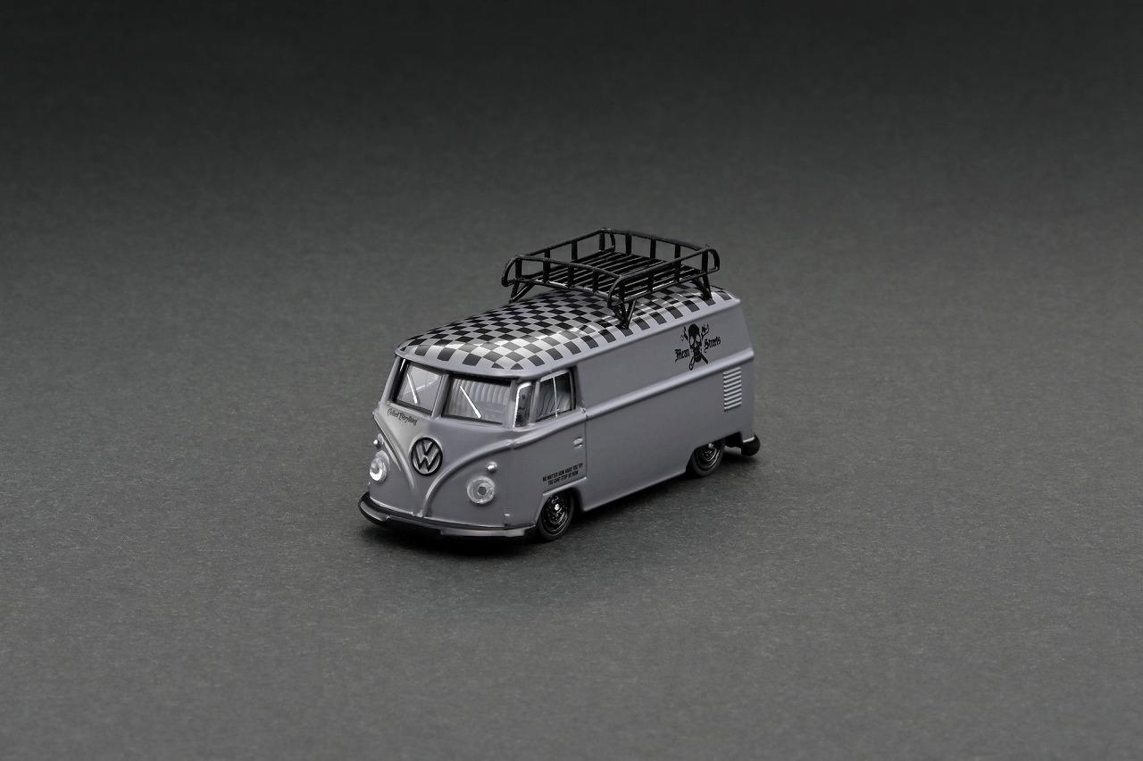 T64S-005-FAT 1/64 Volkswagen T1 Panel Van Mean Streets Special Edition