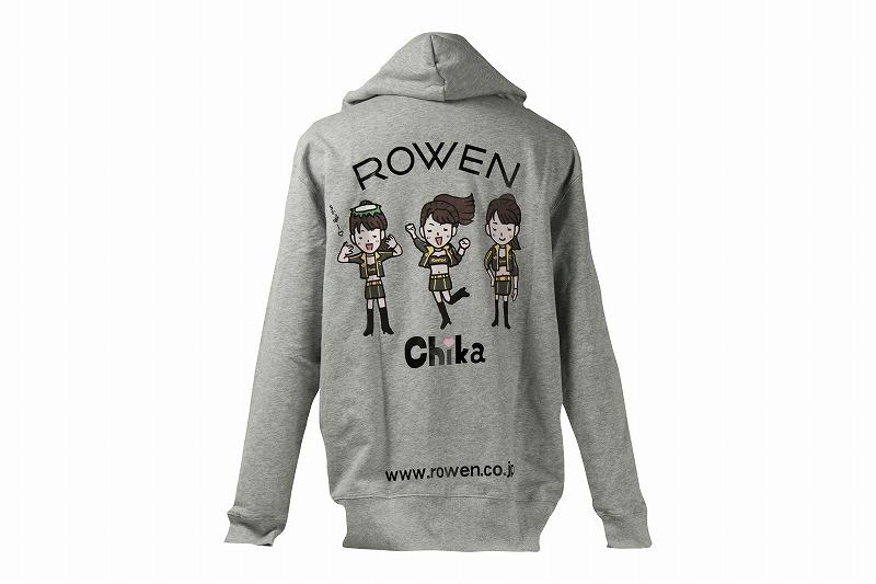 ROWEN×Chika  キャンギャルコラボ  プルジップパーカー (グレー・ブラック・ネイビー)