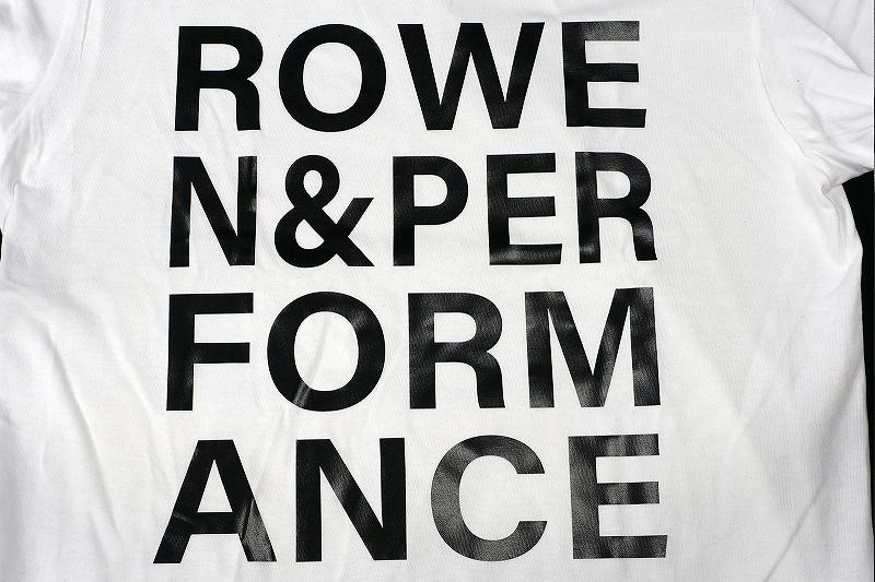 ROWEN&PERFORMANCE Tシャツ (ホワイト×ブラック)