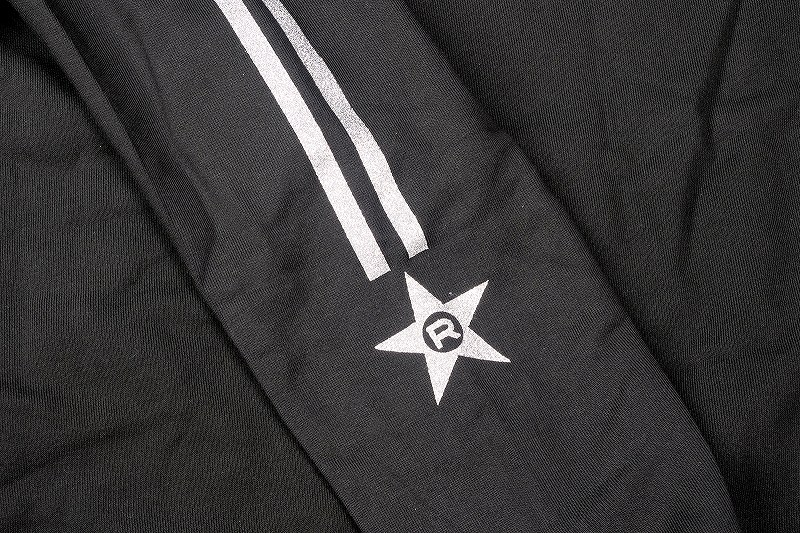 ROWEN STAR★フーディー (ブラック×シルバーラメ)