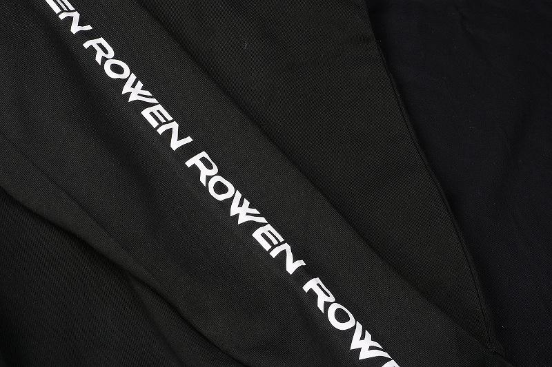 ROWEN ウルフシルエットフーディー (ブラック×ホワイト)