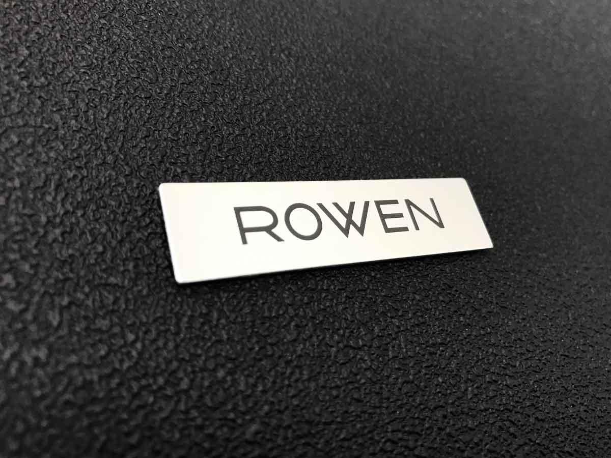 「ROWEN」ロゴ銘板 *ブロック体 *アルミ製