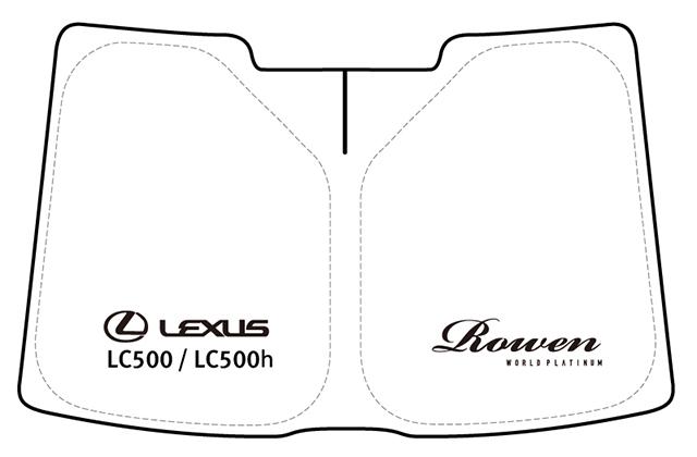 LEXUS LC500専用 ロゴ入りサンシェード(収納ケース付き)