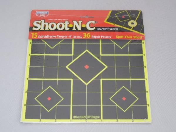数量限定 セール価格 Shoot-N-C Sight-In Targets 8インチ 15枚セット 標的 的紙