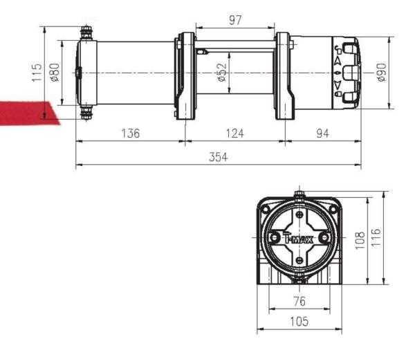 T-MAX 電動ウインチ 12V 3500LBS ATWPRO ワイヤー仕様