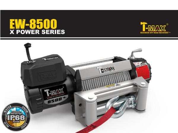 T-MAX 電動ウインチ 12V 8500LBS X-POWER ワイヤー仕様