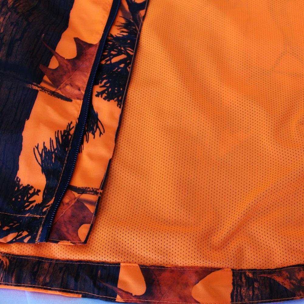 期間限定 特別価格 <BR>トップシューター<BR>ライトウェイト オレンジ迷彩ジャンパー・パンツ 上下セット