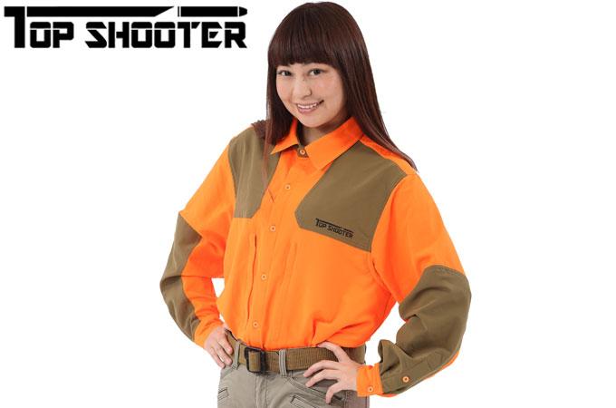 トップシューター オリジナル シューティングシャツ オレンジ【クリックポスト】送料198円!追跡可