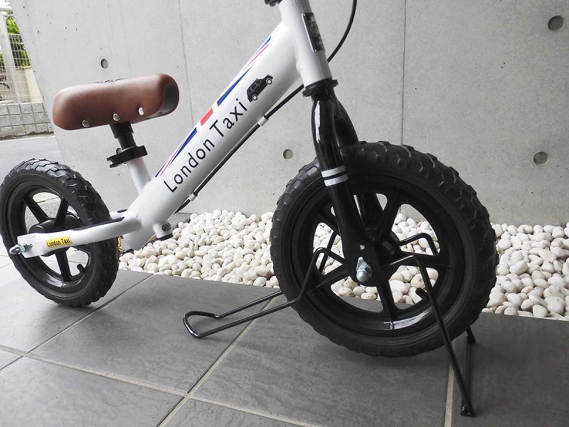 バランスバイク/一輪車兼用据え置き型スタンド キックバイク スタンド ロンドンタクシー stand 保管 室内 スケアクロウに使用可能 12インチ TOP
