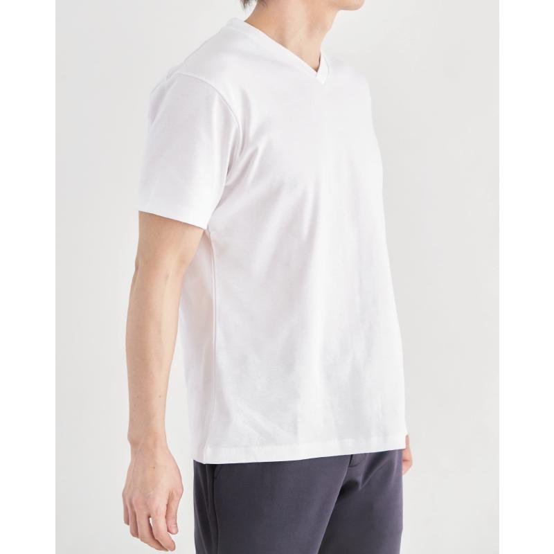 【ドレスTシャツ】GIZAコットンフライス Vネック
