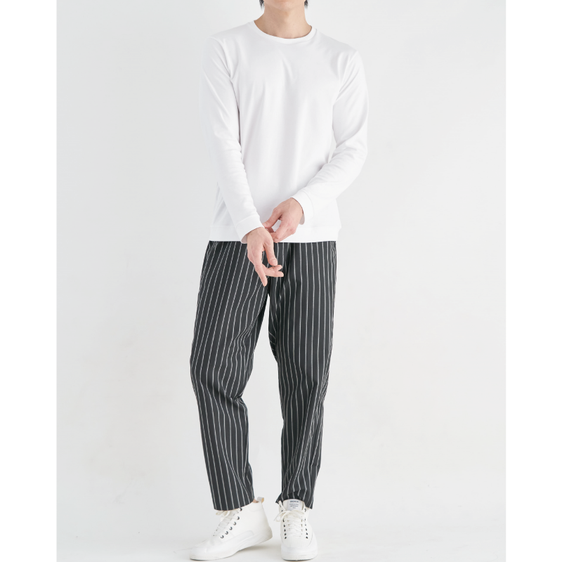 スビンプラチナムスムース DRESS-T クルーネックLS