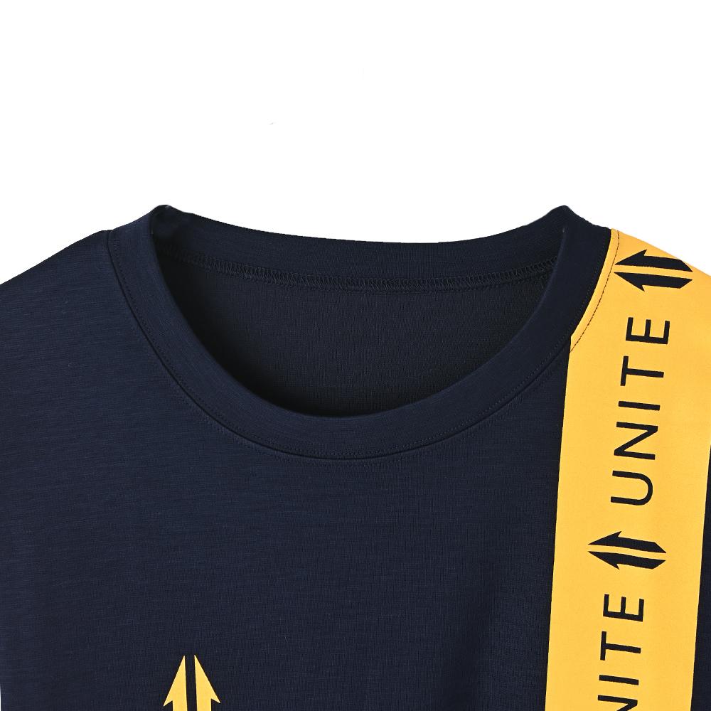 【UNITE】Line Logo Tape Tee
