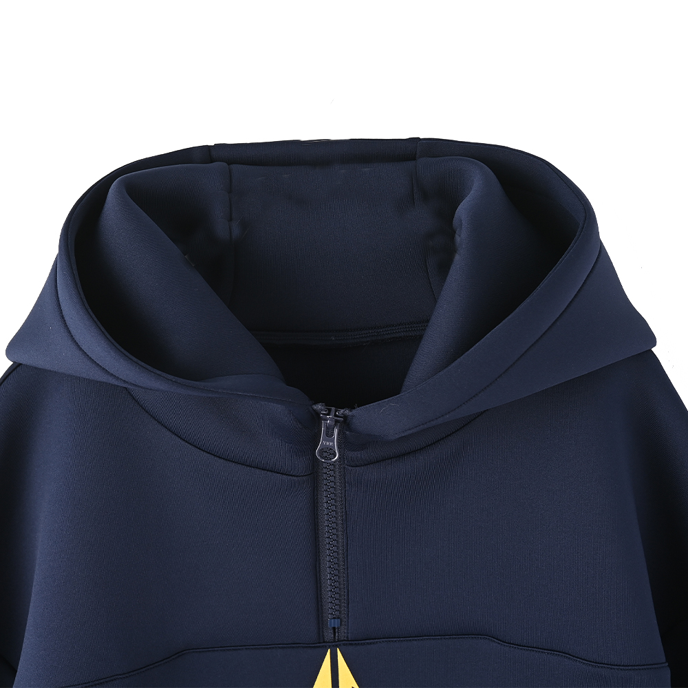 【UNITE】Emblem Logo Half Zip Hoodie