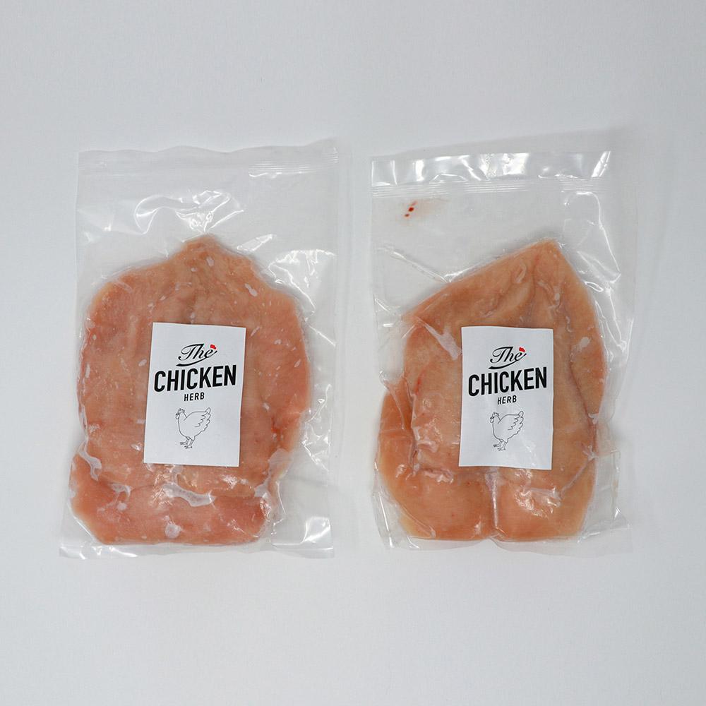 HERB サラダチキン用皮なしムネ肉カット