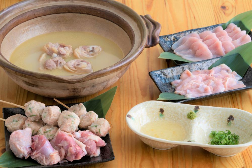 主役はスープ! 鶏ガラ100%の濃厚水炊きセット(3〜4人前)