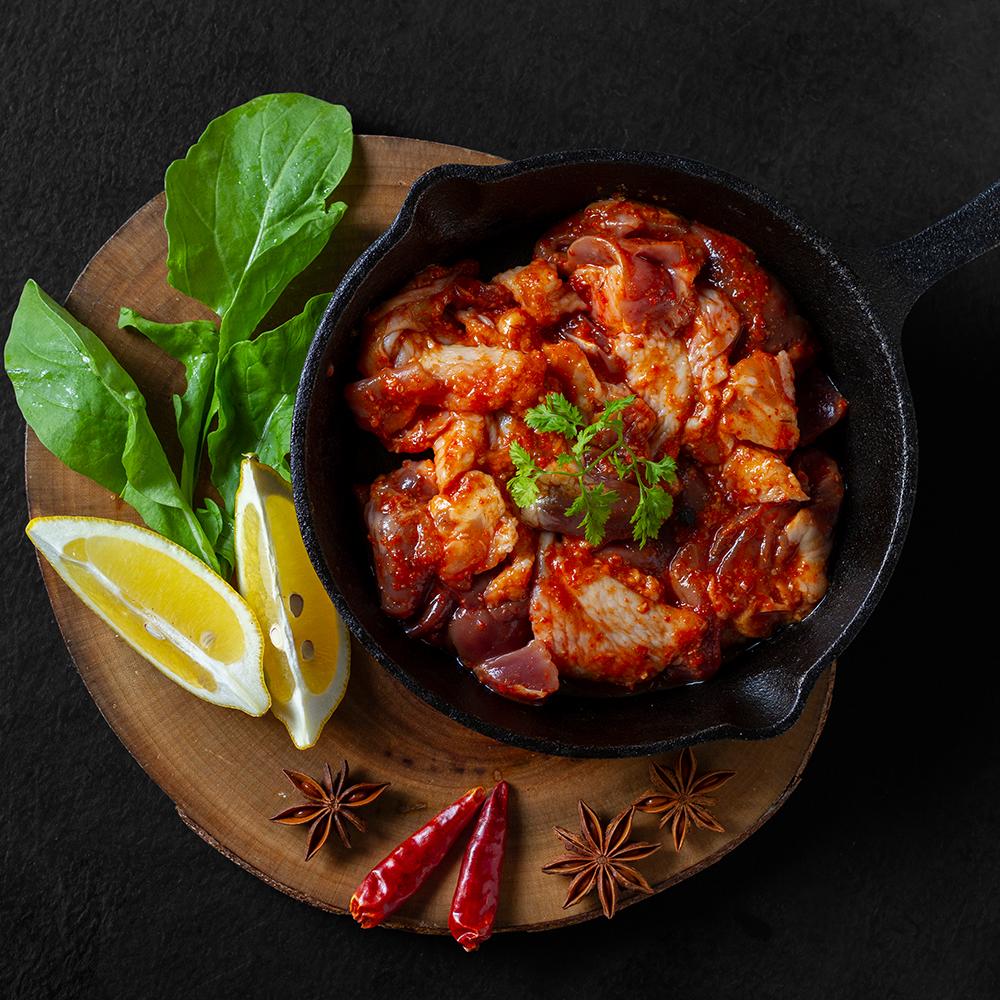 ピリッとやみつき!HERB 旨辛味付けセット|九州県産鶏肉|ハーブ鳥|750g
