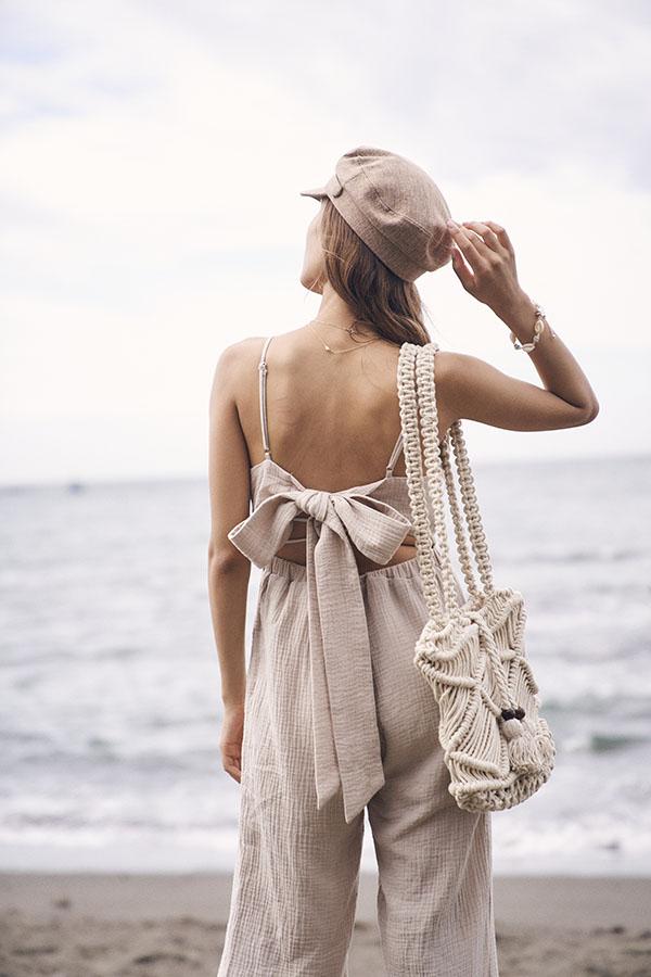 マクラメショルダーバック To the sea