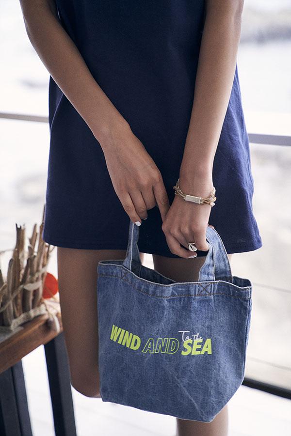 """WIND AND SEA×To the sea"" DENIM TOTE BAG"