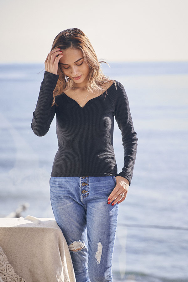 【11/20 NEW&再入荷!】リブスキッパートップス To the sea