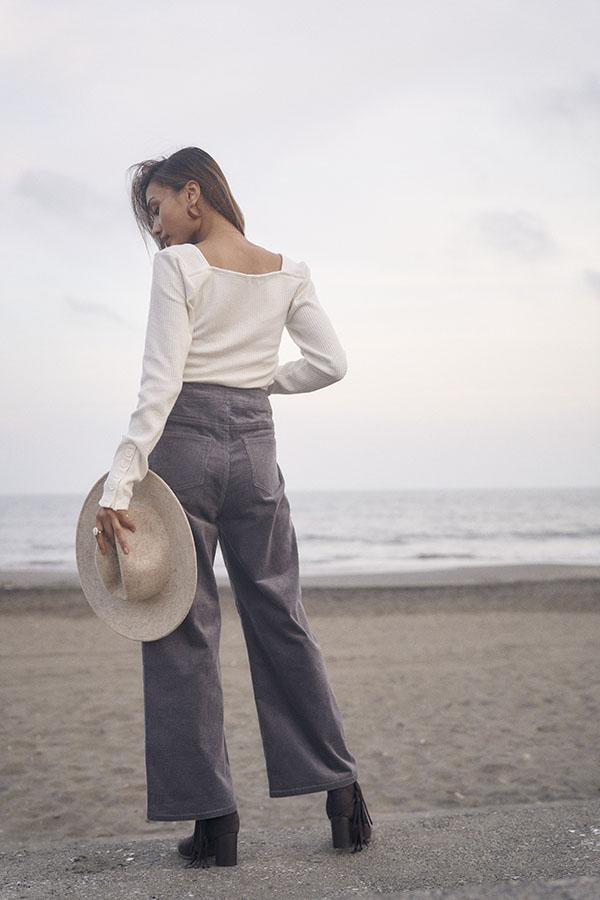 【10/7 NEW!】リブスクエアトップス To the sea