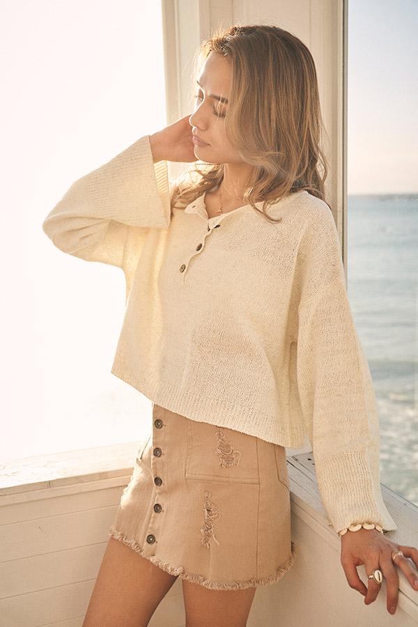 【2/12 NEW!】ツイルクラッシュキュロットスカート To the sea