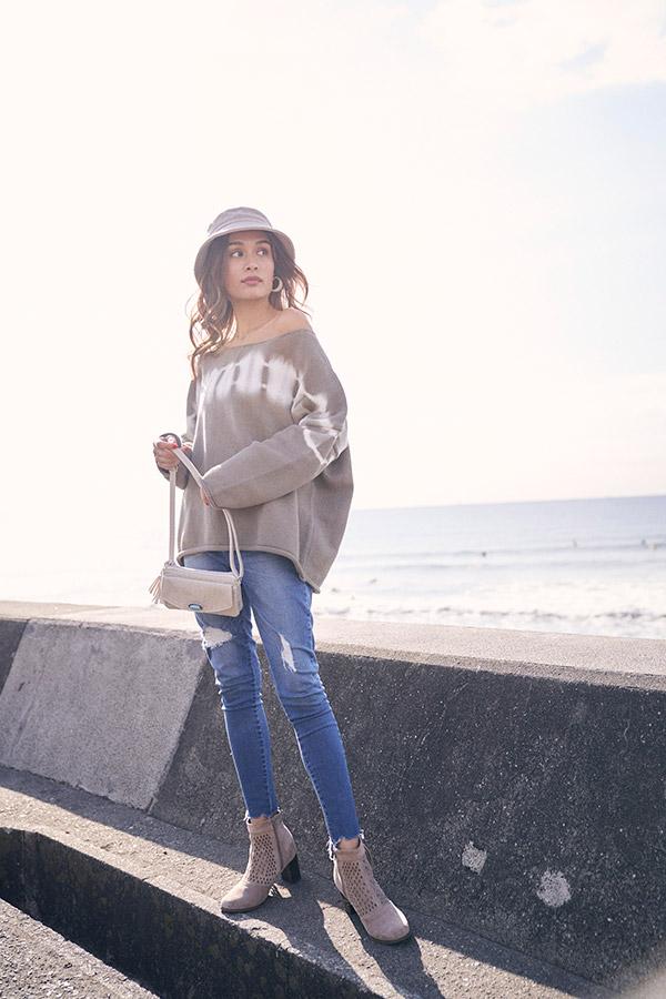 【10/16 NEW!】タイダイドロップニットトップス To the sea