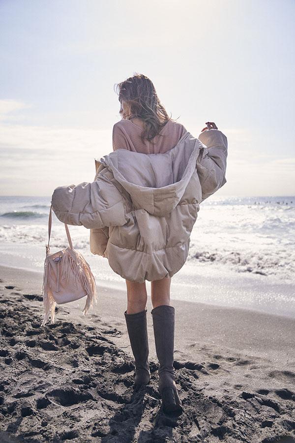 コーデュロイボリュームスリーブジャケット To the sea