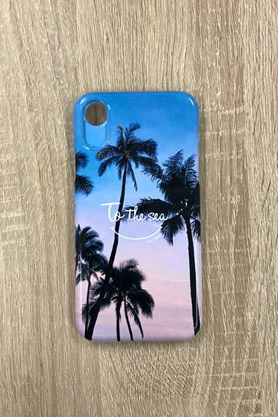 パームツリーグラデーションスマホケース(iPhoneX/XS兼用) To the sea