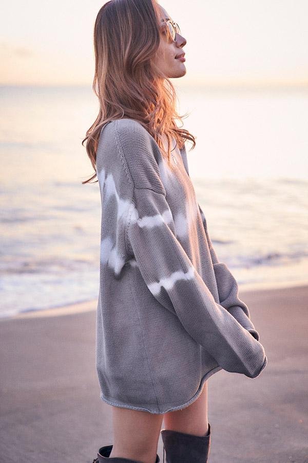 【11月下旬お届け】タイダイミニニットワンピース To the sea