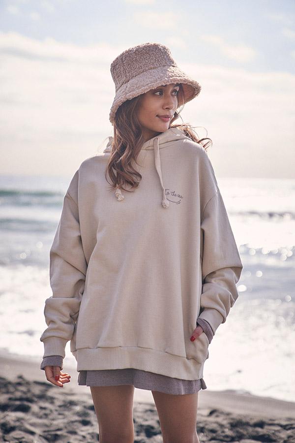 ワッフルロングTシャツ To the sea