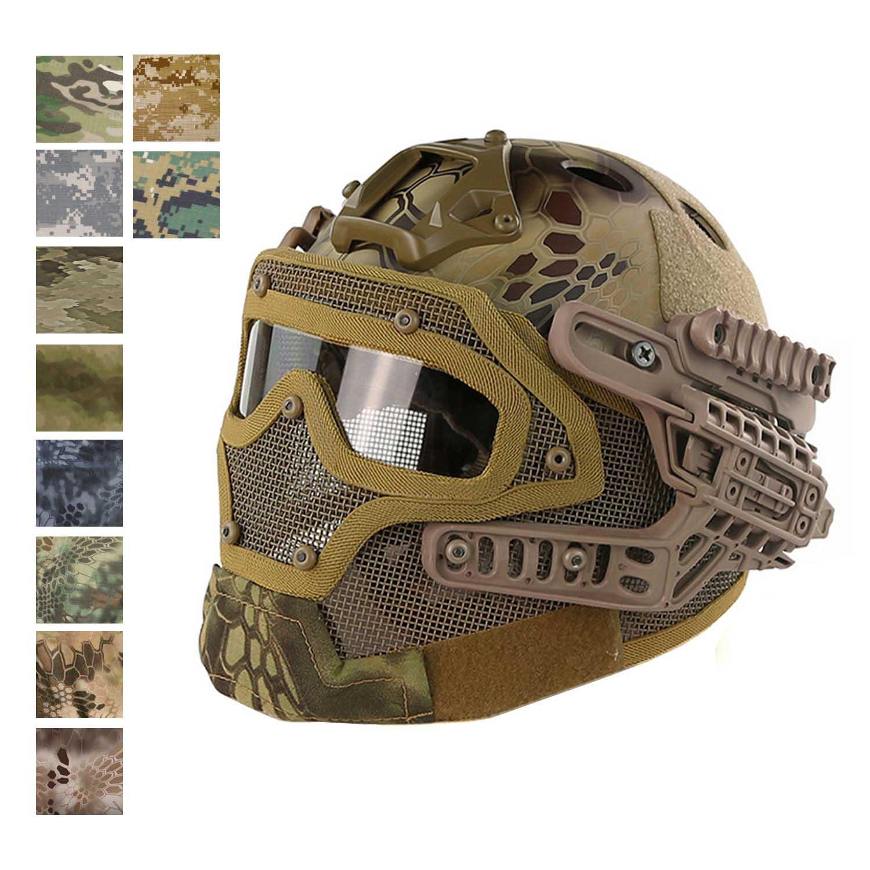 FAST PJタイプ ヘルメット Fullシステム 迷彩カラーシリーズ