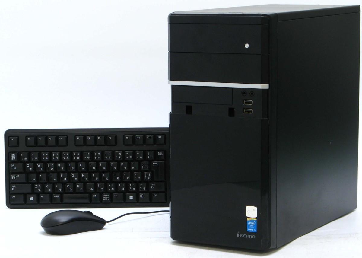B5-5877/iiyama ID7i-MN5010-FS446/504G ■ Corei5 メモリ 4GB HDD 500GB Windows 10 中古 デスクトップ