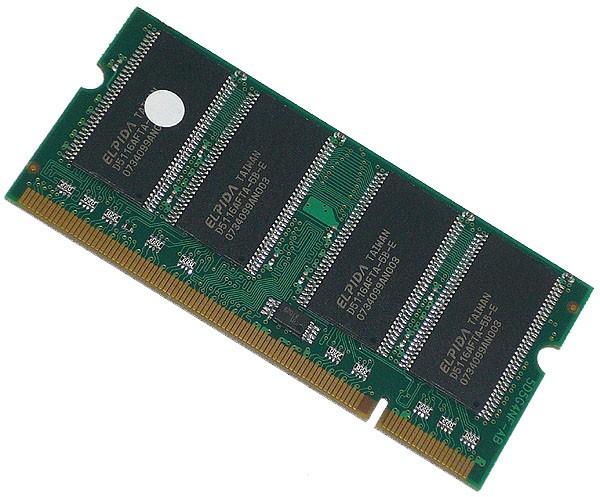 E-4/【ノートパソコン用メモリ】200pin DDR SODIMM PC2700 512MB