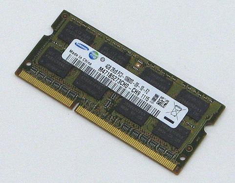 E-19/【ノートパソコン用メモリ】SAMSUNG SO-DIMM DDR3-1333(PC3-10600) 4GBメモリ