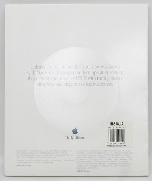 G-13/Mac OS X v10.0.3 インストールCD M8518J/A