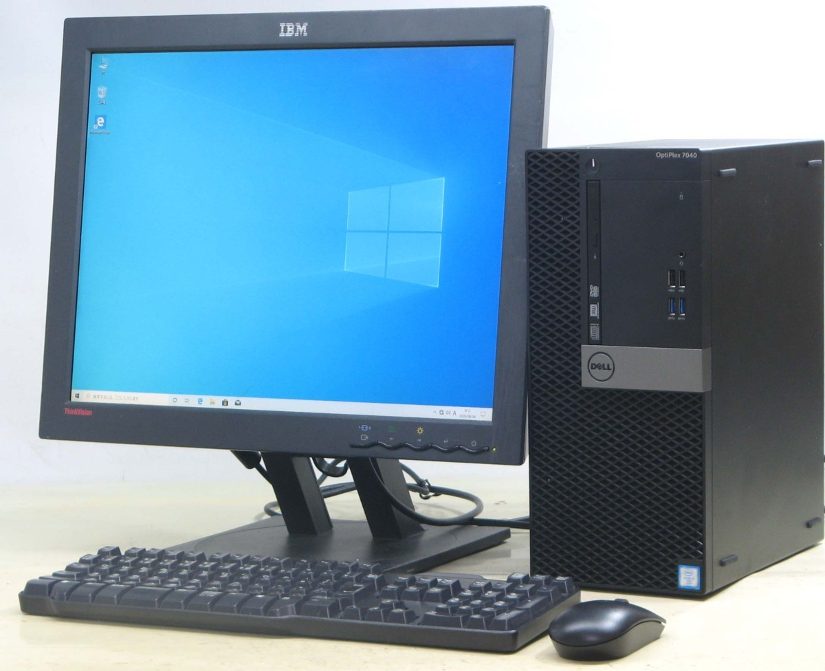 B5-4782/DELL Optiplex 7040-6700MT■20液晶セット Corei7