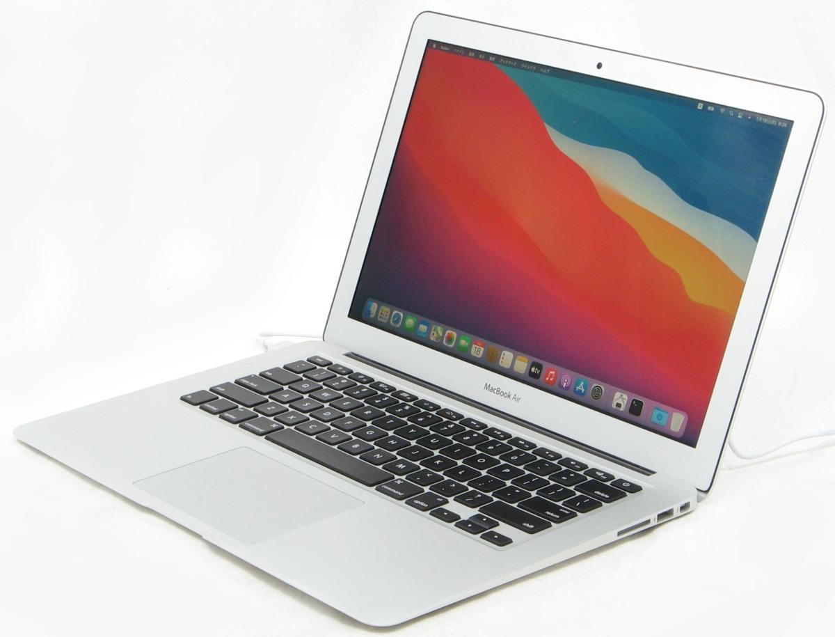 MacBook Air MD760J/B 13-inch Early 2014  Corei5 メモリ 8GB SSD 128GB MacOS 11.1