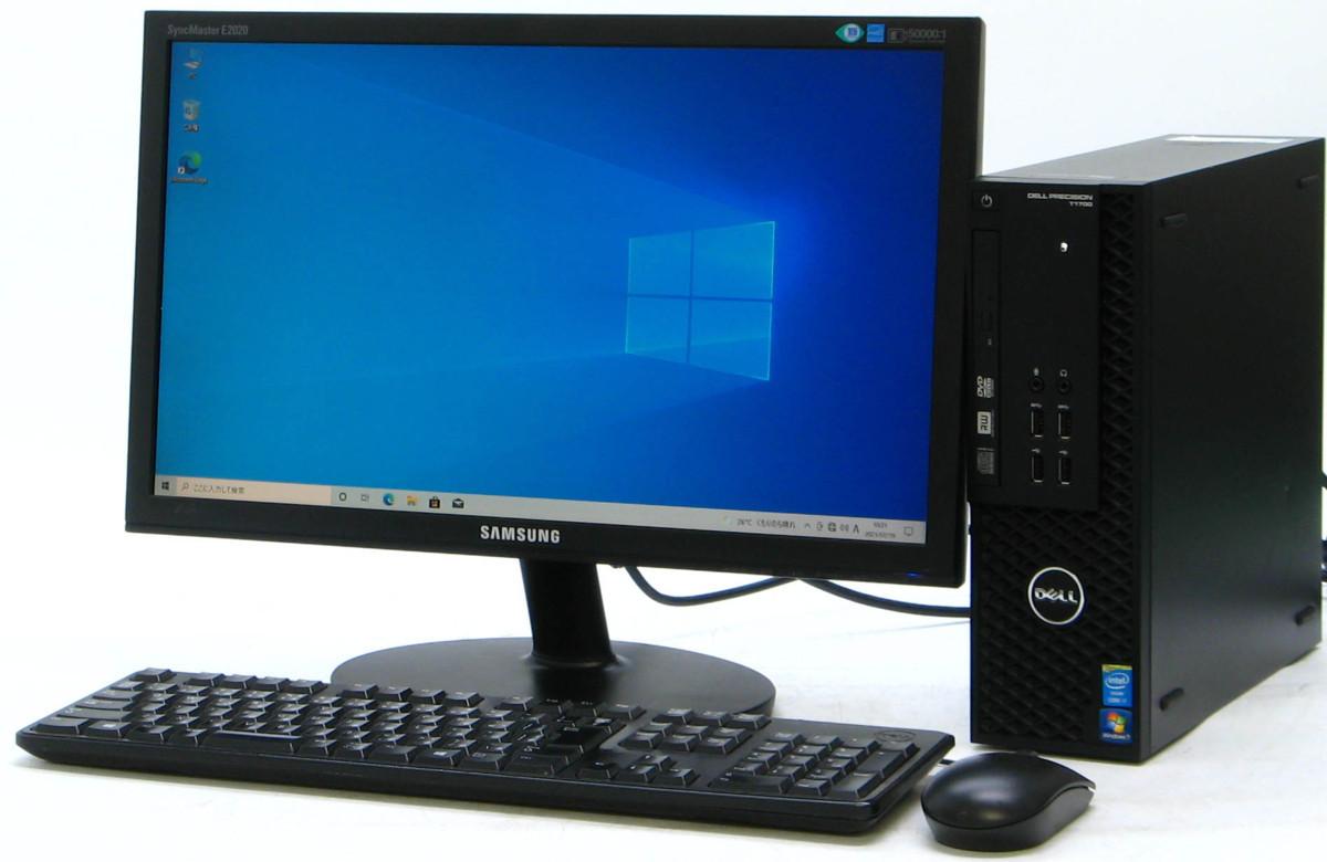 B5-5892/DELL Precision T1700-4770SF Corei7 メモリ 8GB HDD 500GB 新品GeForce GTX1030 20W液晶セット Windows10 中古ゲーミングPC