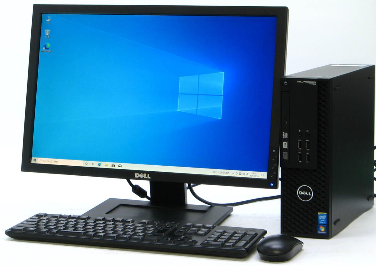 B5-5894/DELL Precision T1700-4770SF Corei7 メモリ 8GB HDD 500GB 新品GeForce GTX1030 22液晶セット Windows10 中古ゲーミングPC