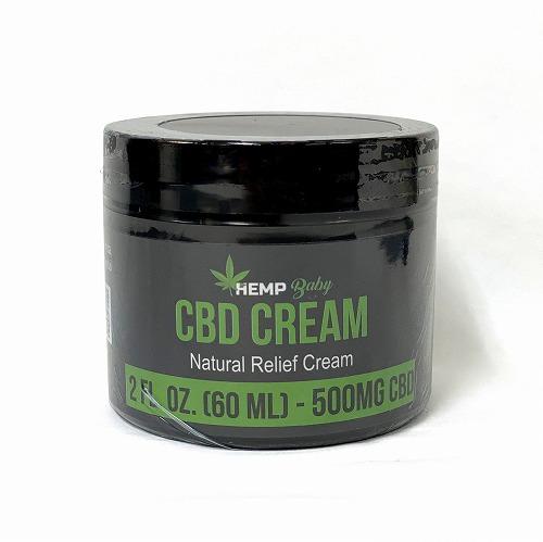 CBD クリーム /  HEMP BABY ナチュラル レリーフ クリーム CBD500mg /筋肉・関節用クリーム