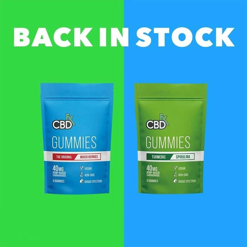 CBDfx CBDグミ ターメリック+スピルリナ 1粒CBD25mg / 合計CBD200mg 8個入り  高濃度 ブロードスペクトラムCBD