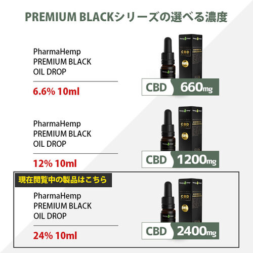 Pharma Hemp CBDオイル フルスペクトラム 24% 2400mg 10ml OLIVE OIL | Fullspectrum PREMIUM BLACK CBD Oil