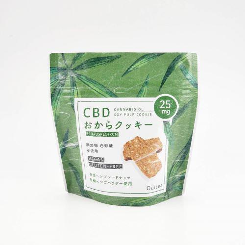 Odisea エディブル CBDクッキー 7枚入り おから/ DistillateCBD cookie CBD25mg TotalCBD 175mg
