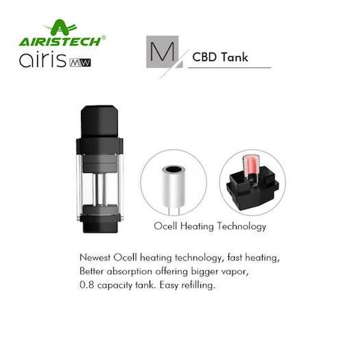 AIRISTECH / airis  MW / VAPORIZER / ワックス・リキッド用 / 2IN1 VAPE POD(WAX AND LIQUID) / ワックス&リキッド兼用ヴェポライザー