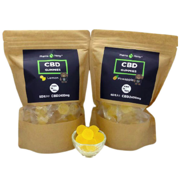 Pharma Hemp CBDグミ  1粒CBD40mg / 合計CBD2400mg 60個入り|高濃度 アイソレート