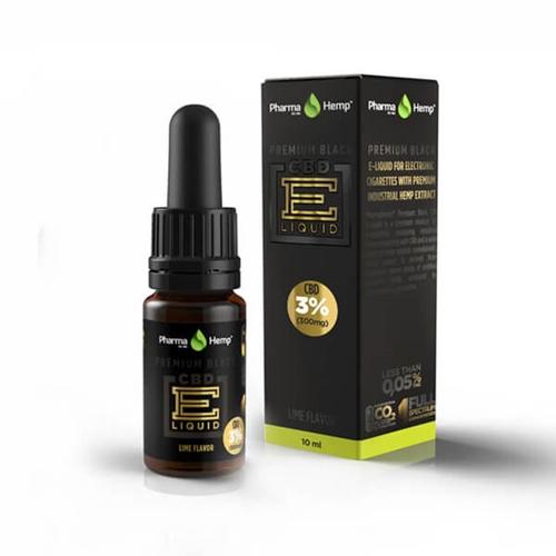 PharmaHemp E-LIQUID CBD3% (300mg) PREMIUM BLACK 10ml & AIRISTECH airis VERTEX