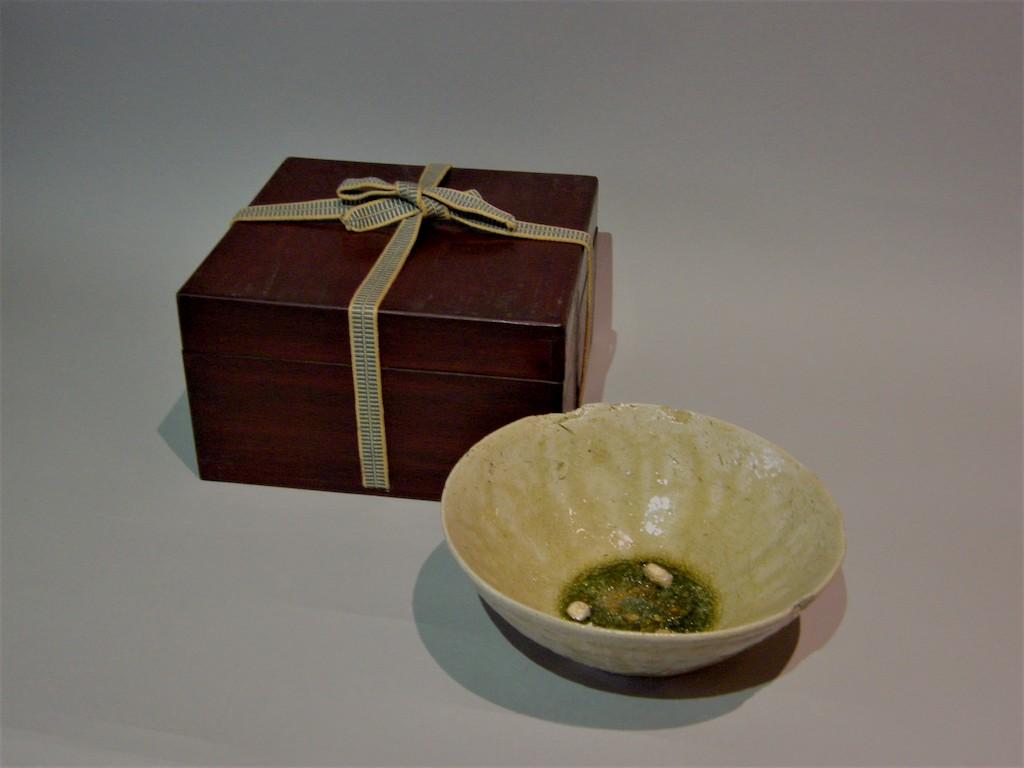 古瀬戸灰釉平茶碗