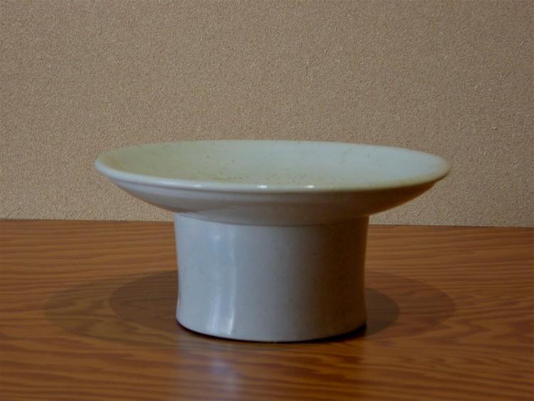 李朝白磁台鉢