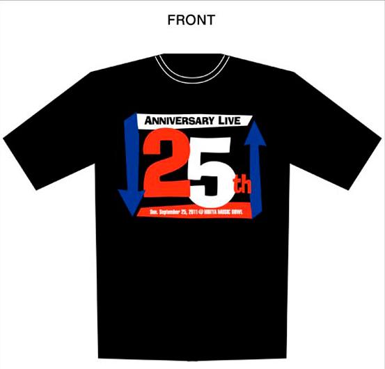 25周年記念ライヴオフィシャルTシャツ